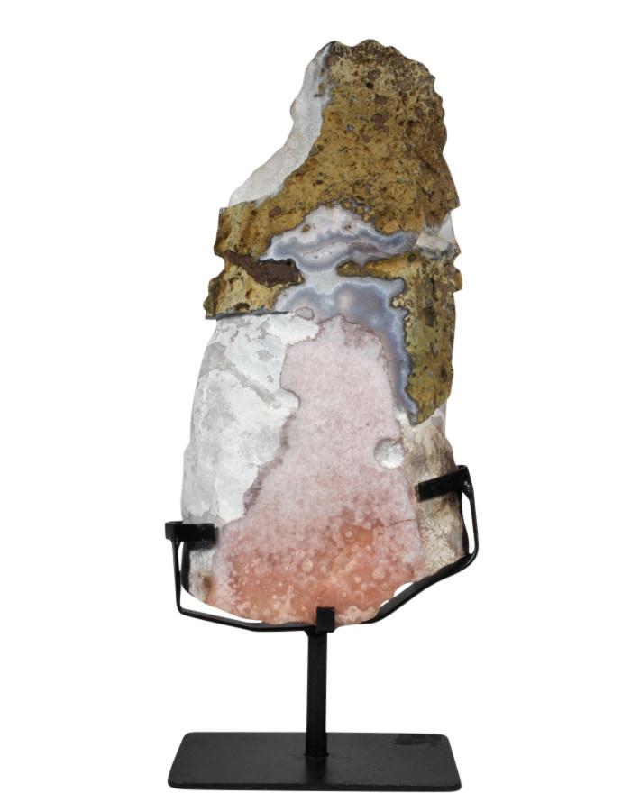Amethist (roze) schijf gepolijst 30,5 x 15,5 x 3,5 cm / 2642 gram | met standaard