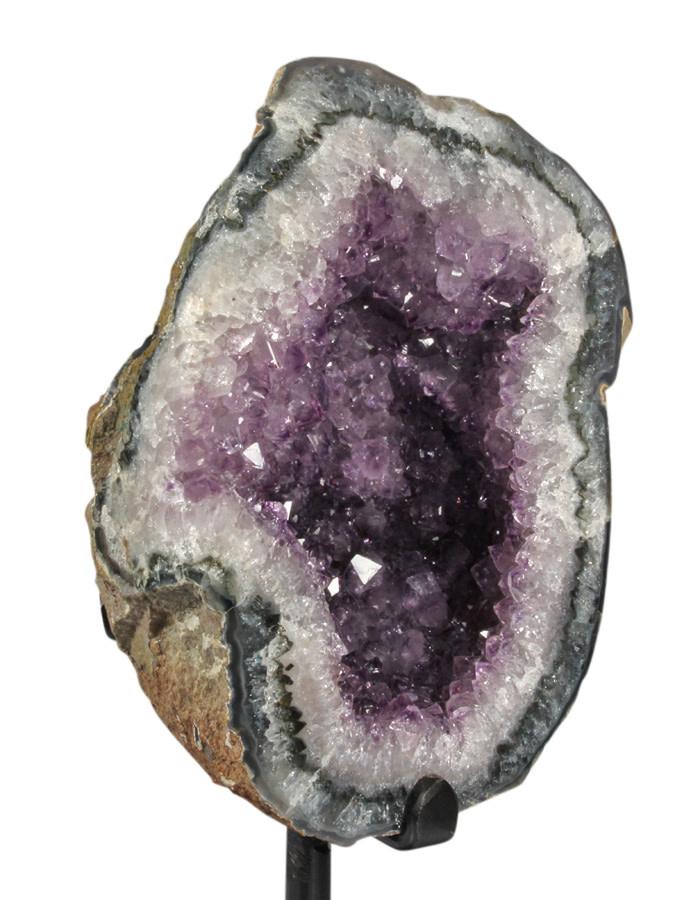 Amethist cluster 17,5 x 12,5 x 10 cm / 2296 gram | met standaard