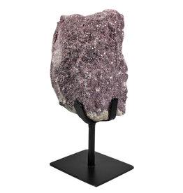 Lepidoliet ruw 18 x 11,5 x 10,5 cm / 3191 gram | met standaard