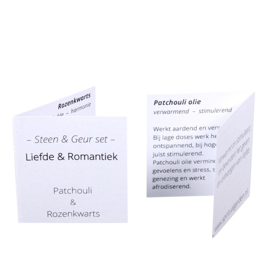 Steen en geur set | liefde & romantiek