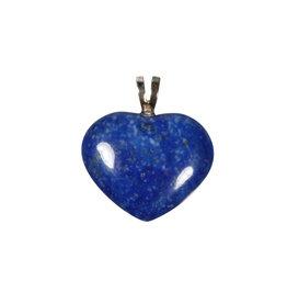 Zilveren hanger lapis lazuli hart 2 cm