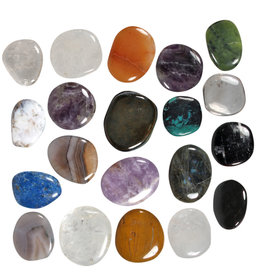 Platte stenen B-keus assorti (per 10 stuks)
