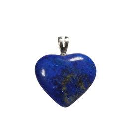 Zilveren hanger lapis lazuli hart A-kwaliteit 2 cm
