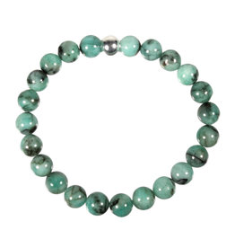 Smaragd armband 18 cm | 8 mm kralen