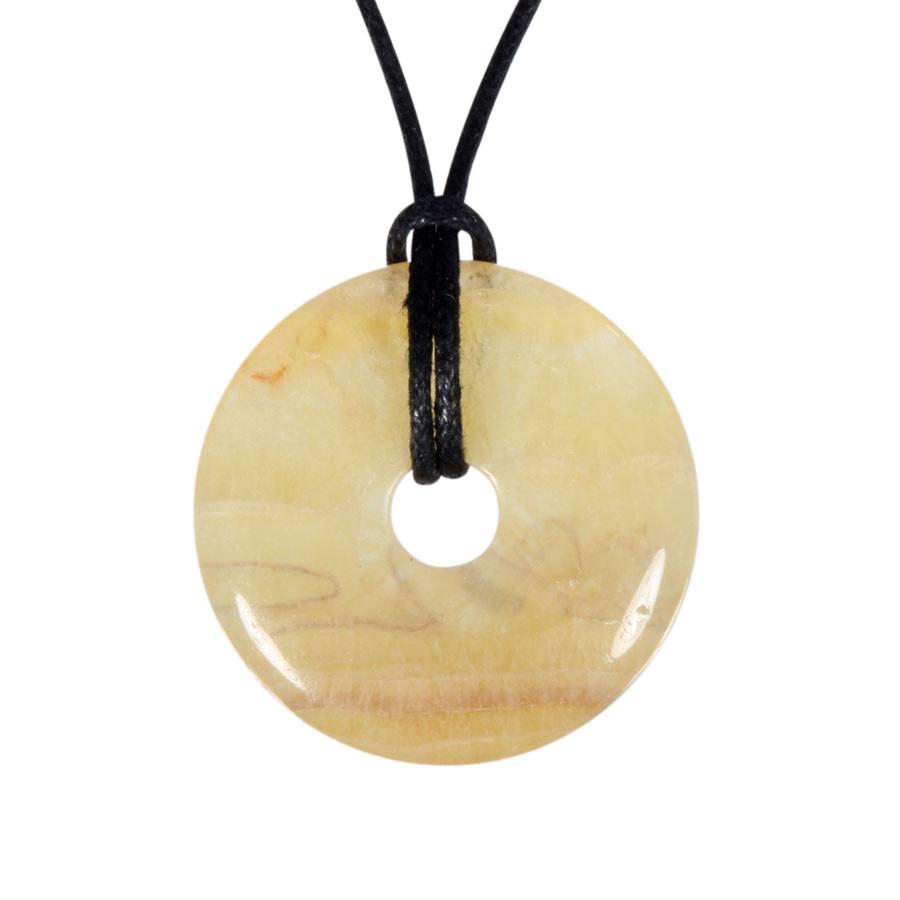 Fluoriet (geel) hanger donut 3 cm