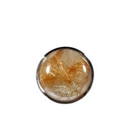 Zilveren ring rutielkwarts maat 18 1/2 | rond 1,8 cm