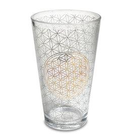 Glas bloem des levens hoog