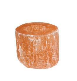 Seleniet (oranje) theelichthouder cilinder