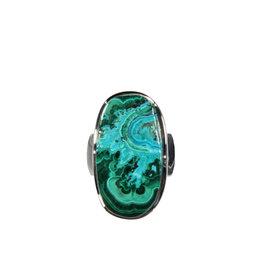 Zilveren ring malacolla maat 18 | ovaal 2,3 x 1,3 cm