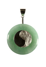 Zilveren houder voor donut hangers yin yang (voor donuts vanaf 3 cm)