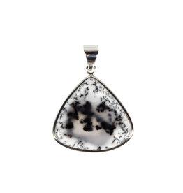 Zilveren hanger merliniet | druppel 2,8 x 2,9 cm