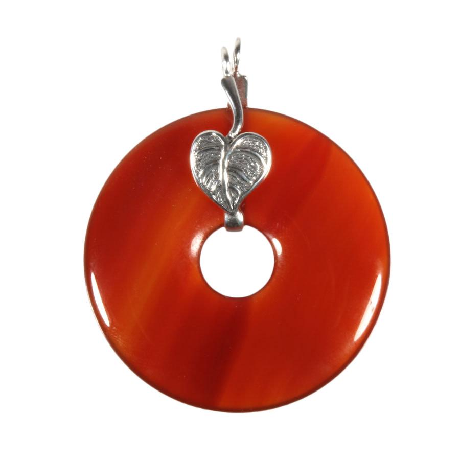 Zilveren houder voor donut hangers blaadje (voor donuts t/m 4 cm)