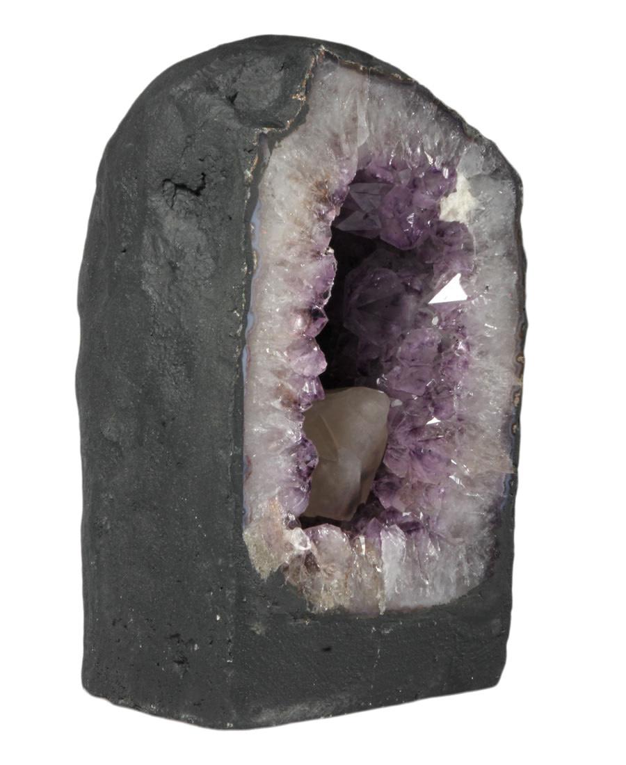 Amethist geode met calciet kristallen 13,5 x 13 x 23,5 cm | 7,2 kg