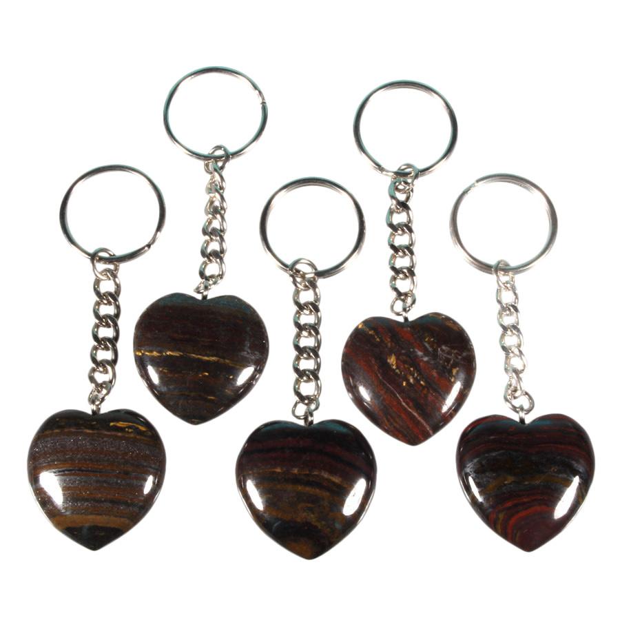 Tijgerijzer sleutelhanger hart