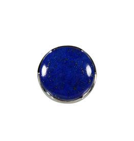 Zilveren ring lapis lazuli maat 17 3/4   rond 2 cm