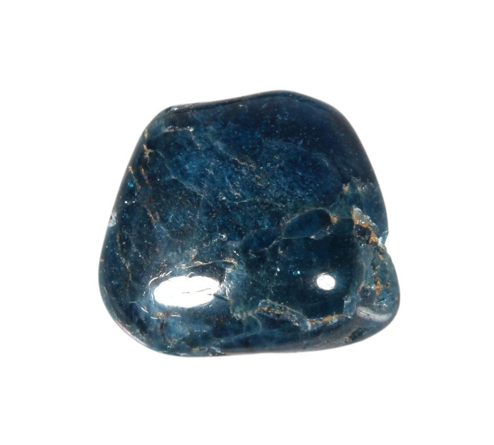 Apatiet (blauw) steen getrommeld 10 - 20 gram