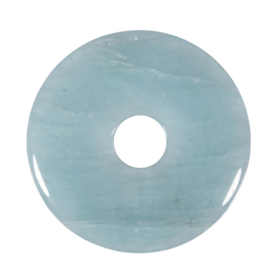 Aquamarijn hanger donut 5,25 cm