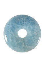 Aquamarijn hanger donut 5,3 cm