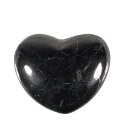 Shungiet edelsteen hart 4 cm