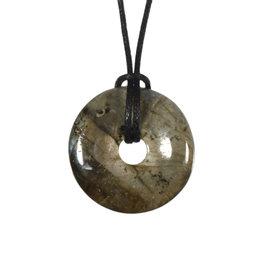 Labradoriet hanger donut 3 cm