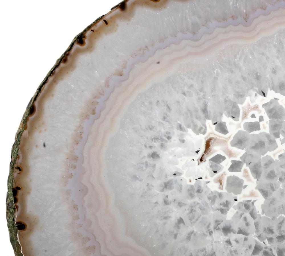 Agaat schijf 23 x 18,5 x 0,6 cm | 574 gram