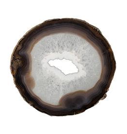 Agaat schijf 18 x 17 x 0,5 cm | 384 gram