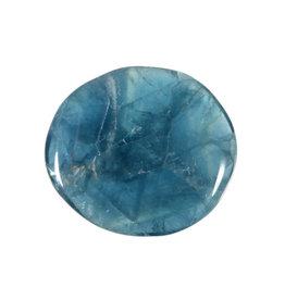 Fluoriet (blauw) steen plat gepolijst