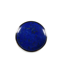 Zilveren ring lapis lazuli maat 17 3/4   rond 2,2 cm