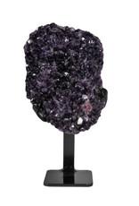 Amethist cluster 18 x 13 x 8 cm / 2501 gram   met standaard