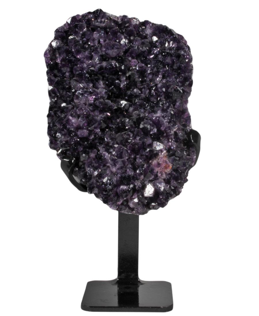 Amethist cluster 18 x 13 x 8 cm / 2501 gram | met standaard