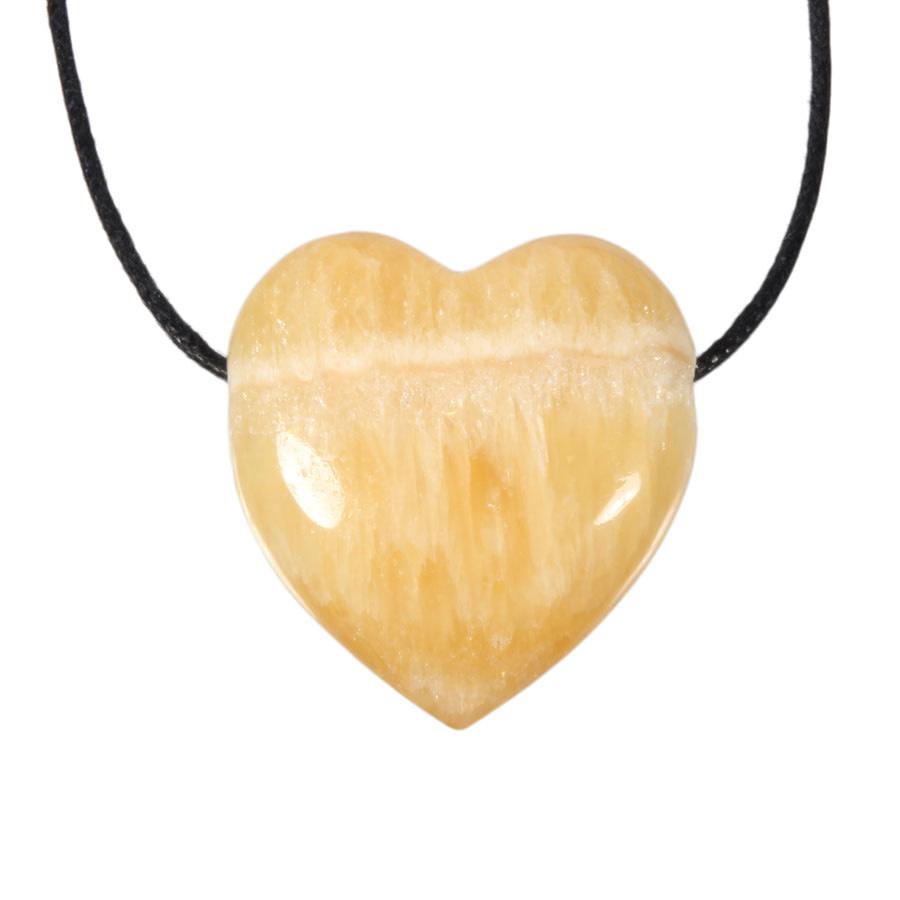 Calciet (oranje) hanger hart doorboord