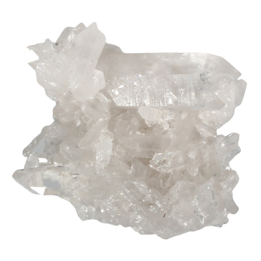 Bergkristal (Arkansas) cluster 10,5 x 9,5 x 4,5 cm   393 gram