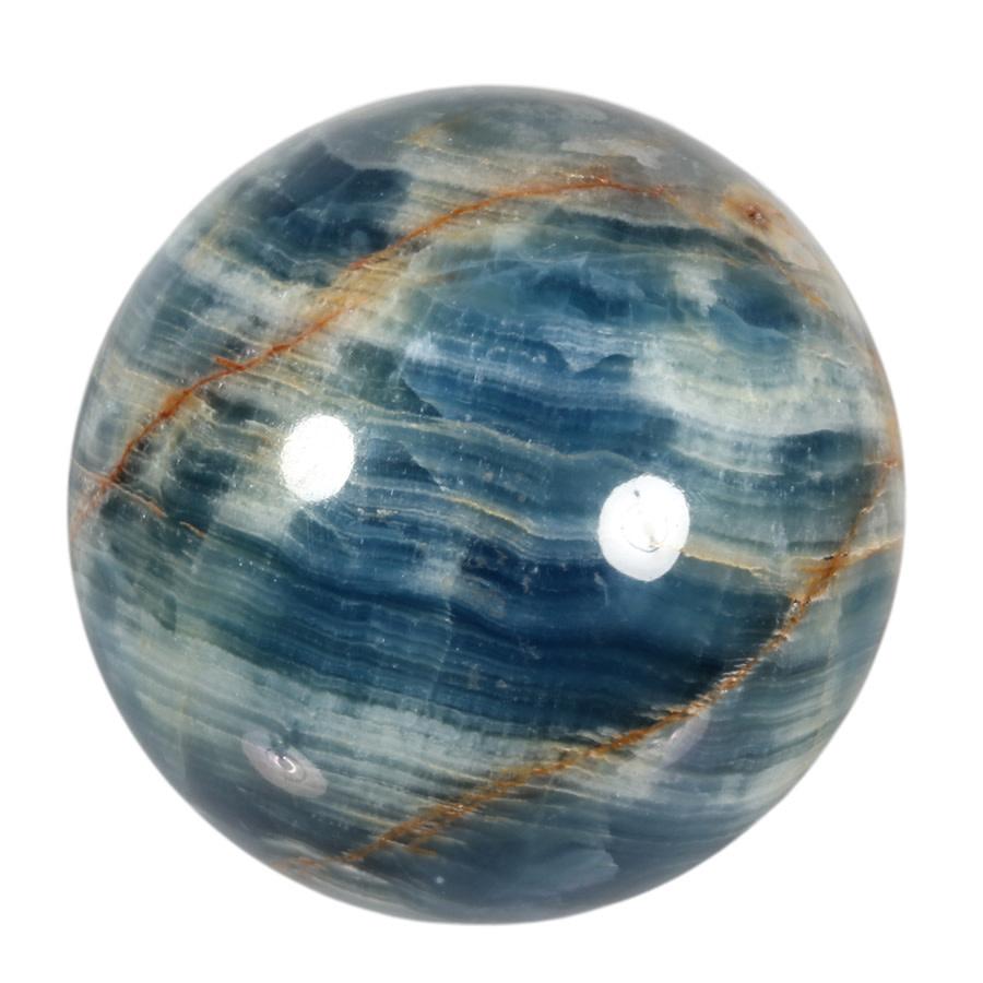 Aragoniet (blauw) edelsteen bol 102 mm | 1443 gram