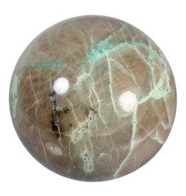 Maansteen (groen) edelsteen bol 99 mm | 1311 gram