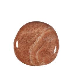 Maansteen (roze) steen plat gepolijst