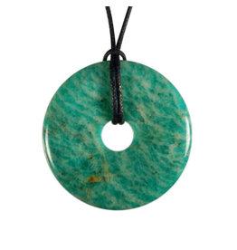 Amazoniet hanger A-kwaliteit donut 4 cm