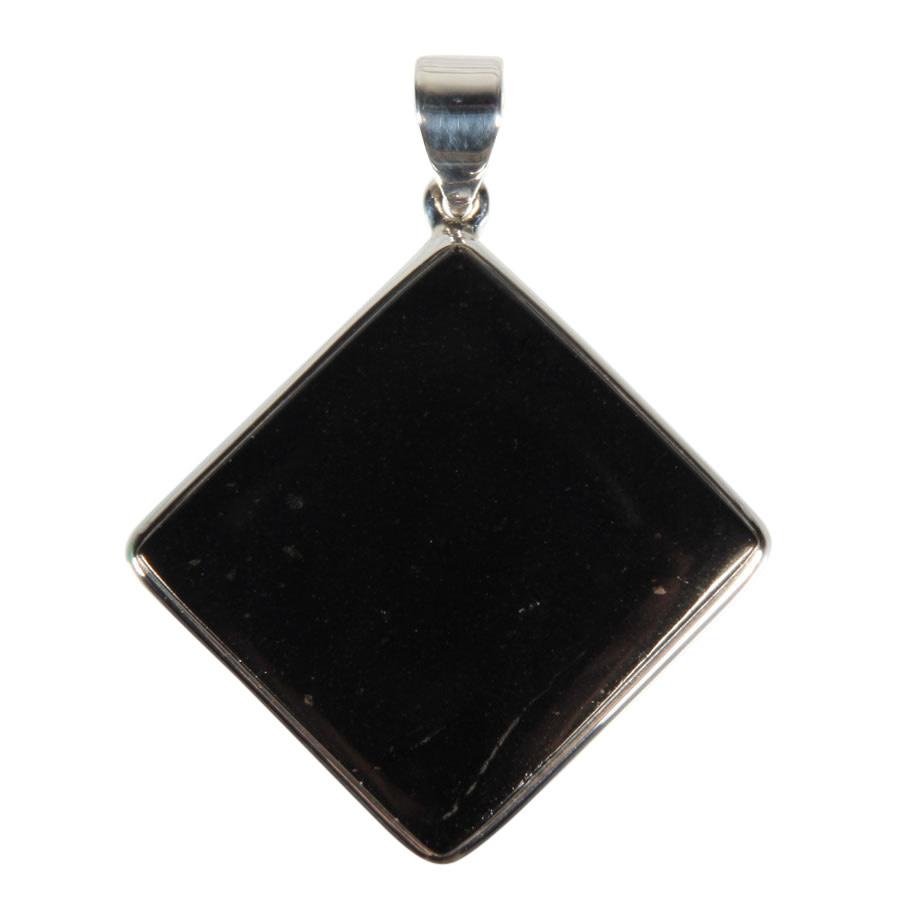 Zilveren hanger shungiet | ruit 3,3 x 3,3 cm