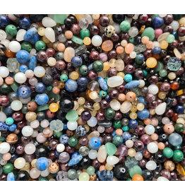 Gemengde edelsteen kralen mix (100 gram)