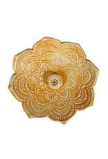 Wierookhouder keramiek geel