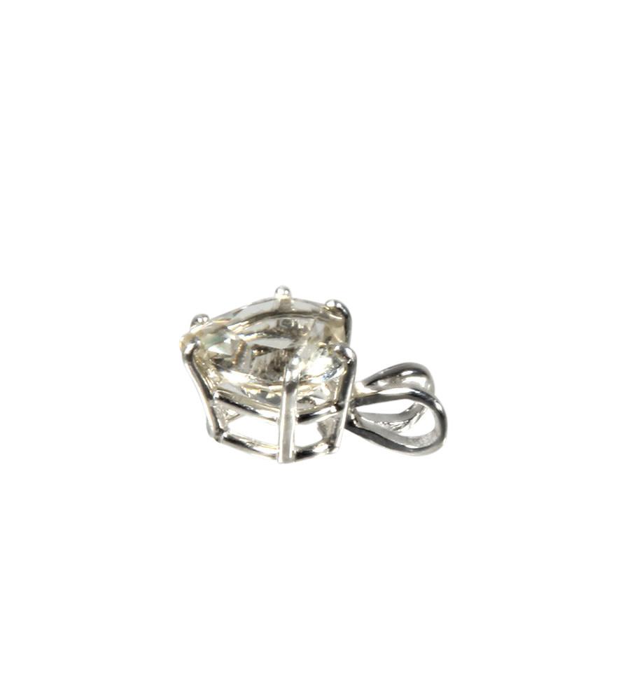Zilveren hanger labradoriet (goud) hartje 8 mm