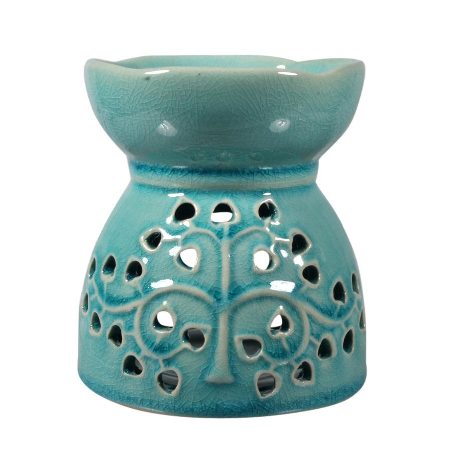 Aromalamp keramiek turquoise