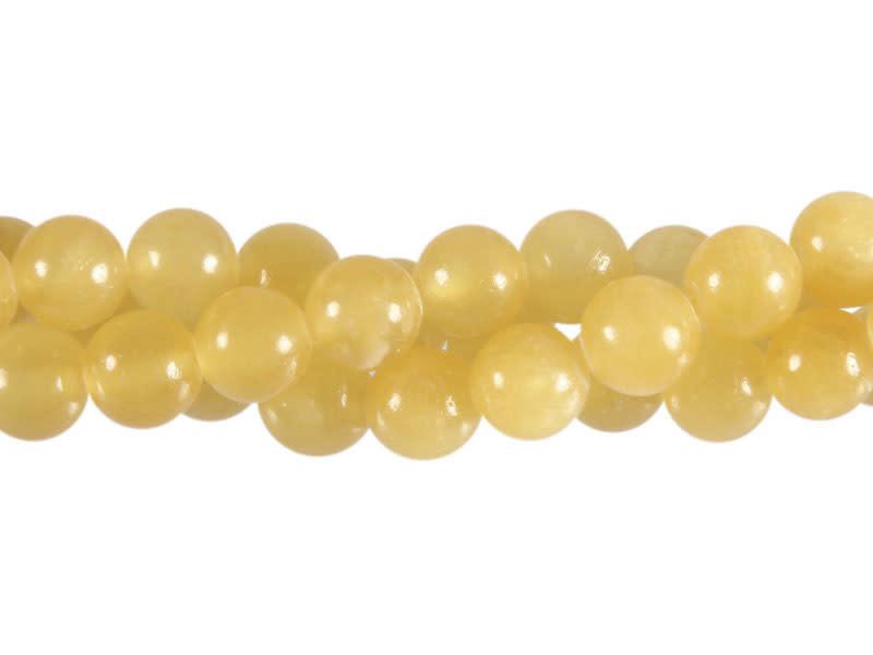 Calciet (oranje) kralen rond 8 mm (streng van 40 cm)