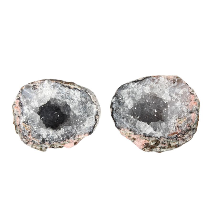 Chalcedoon geode paar 250 - 400 gram