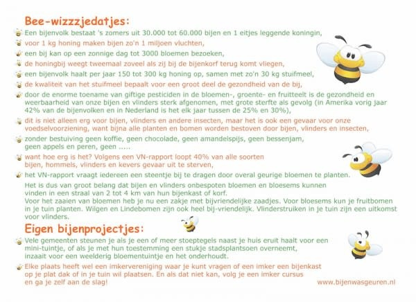 Bee-friendly bijenzaadjes en bijenwas vormpje