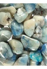 Afghaniet in calciet steen getrommeld 1 - 2 gram