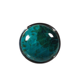 Zilveren ring chrysocolla maat 17 3/4 | rond 2,1 cm