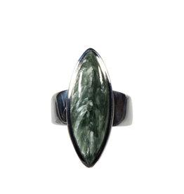 Zilveren ring serafiniet maat 17 3/4 | markies 2,8 x 1 cm