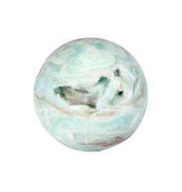 Aragoniet (blauw) edelsteen bol 50 mm