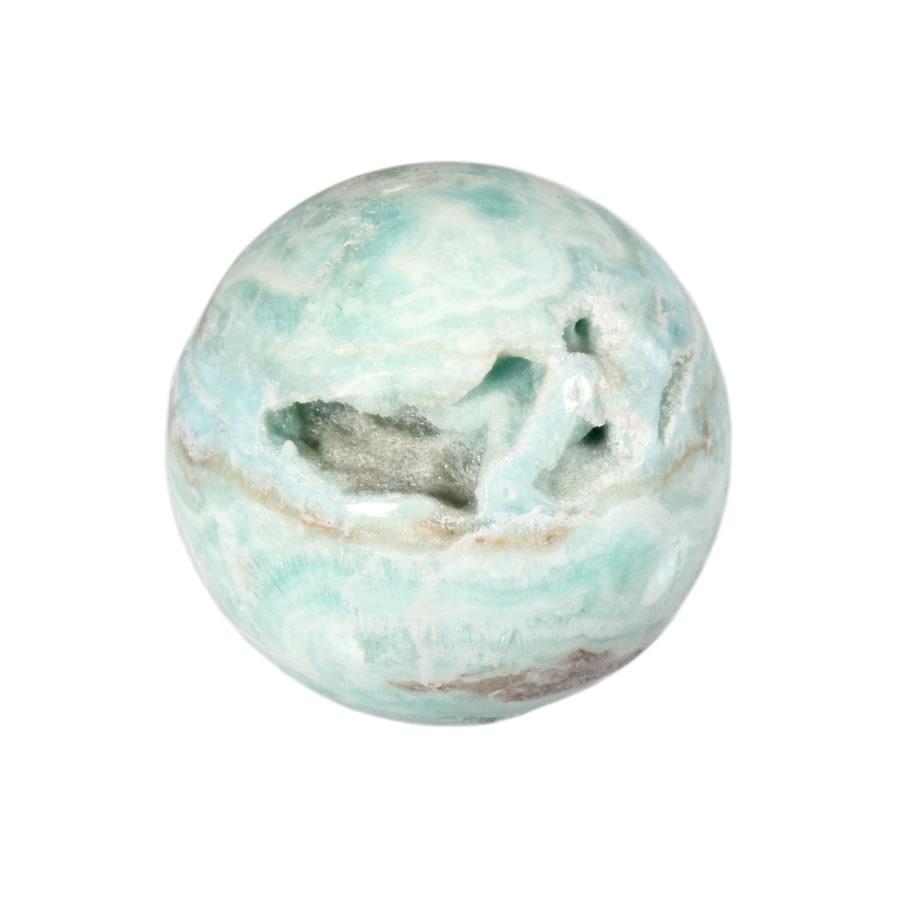 Aragoniet (blauw) edelsteen bol 5 cm