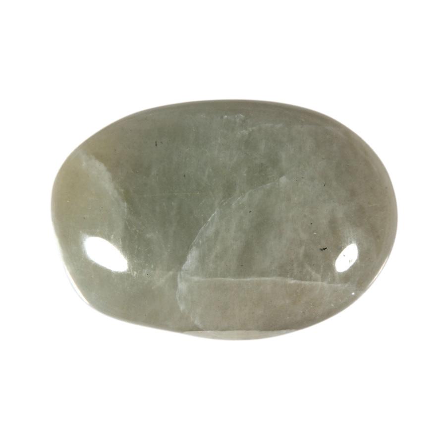 Maansteen (groen) steen plat gepolijst